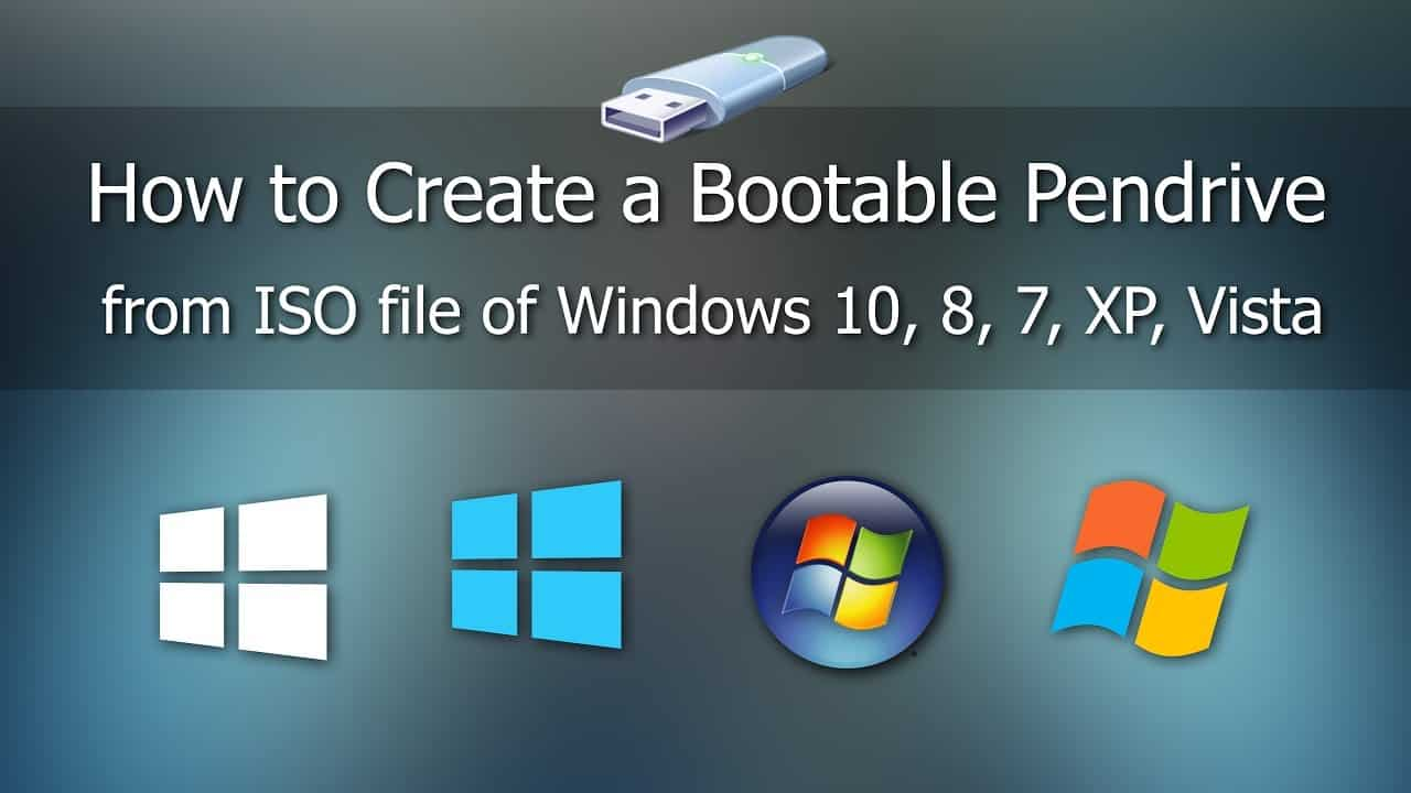 how to create bootable pendrive from iso