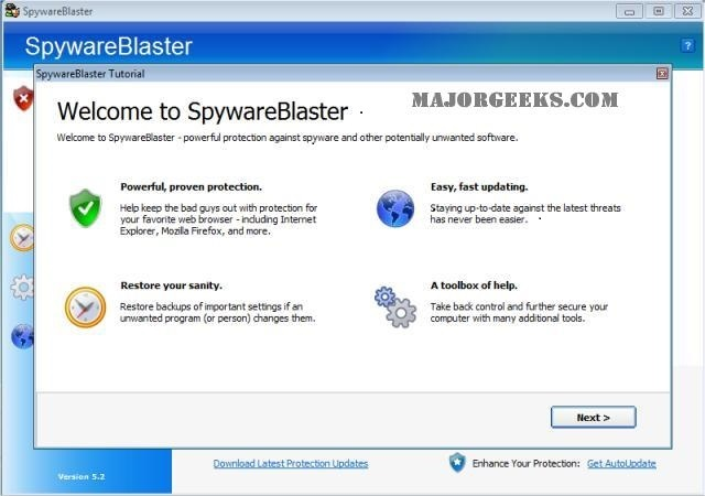 SpywareBlaster Free Download 100% working With crack